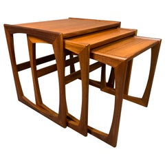 "Vintage British Mid-Century Modern Teak ""Quadrille"" Nesting Tables by G Plan"