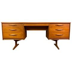 Vintage British Midcentury Teak Desk Worktable by Frank Guille for Austinsuite