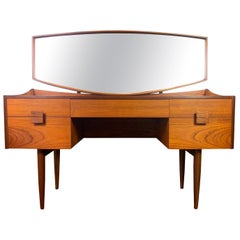 Vintage British Midcentury Teak Vanity and Mirror by Kofod Larsen for G Plan