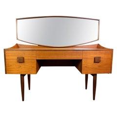 Vintage British Midcentury Teak Vanity and Mirror by Kofod Larsen for G Plan