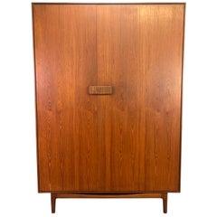 Vintage British Midcentury Teak Wardrobe Dresser by Ib Kofod Larsen for G Plan