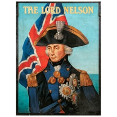 "Vintage British Reproduction Pub Sign, ""The Lord Nelson"""