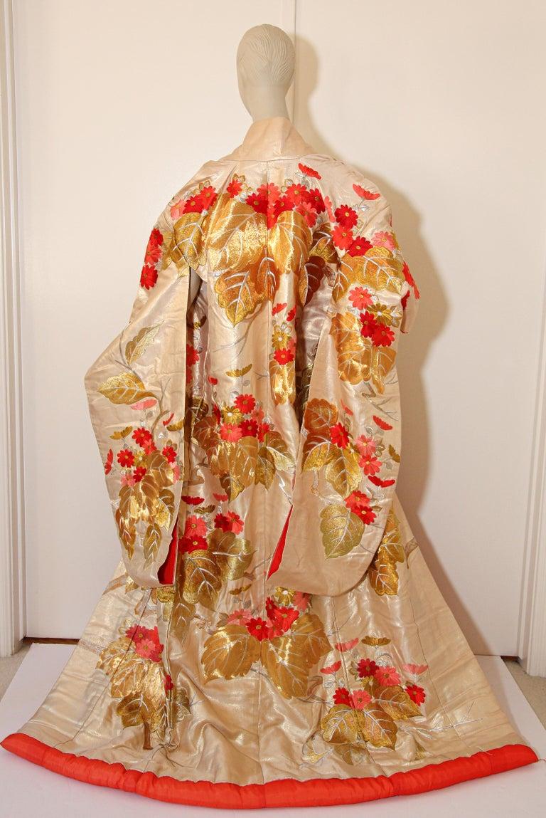 Vintage Brocade Japanese Ceremonial Kimono For Sale 4