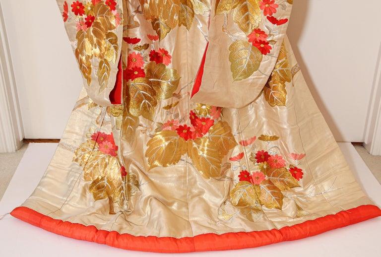 Vintage Brocade Japanese Ceremonial Kimono For Sale 6