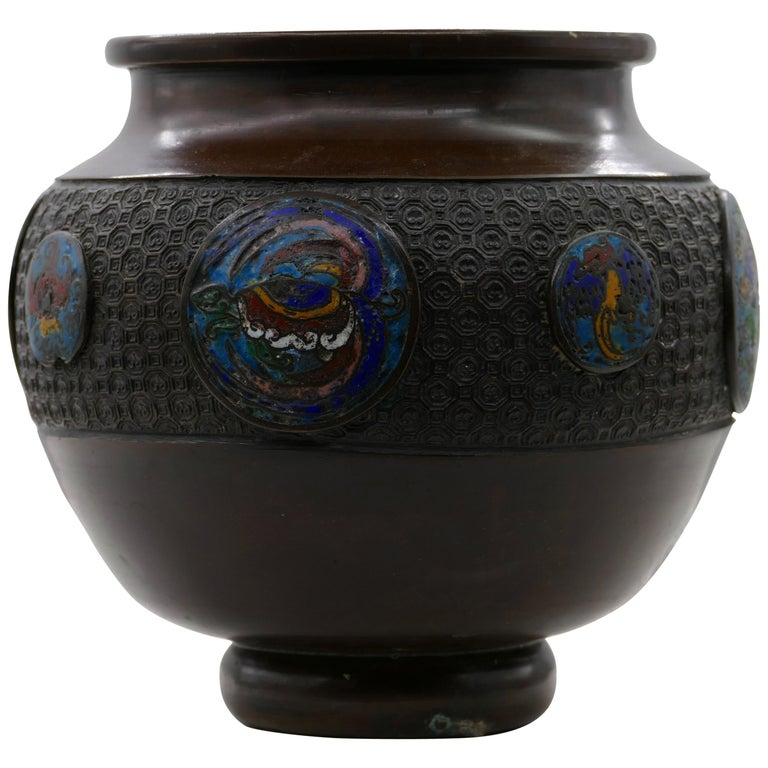 Vintage Bronze Cachepot, China, Early 20th Century For Sale