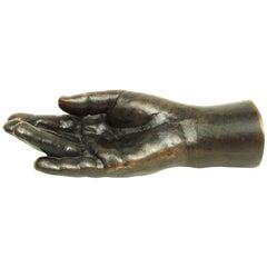 Vintage Bronze Childs Hand Sculpture Pop Art by British Artist Kate Braine