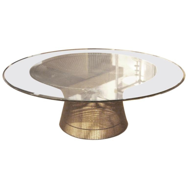 Vintage Bronze Coffee Table by Warren Platner for Knoll