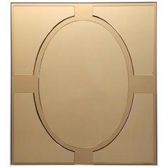 Vintage Bronze Rectangular Wall Mirror by Giannobi, Italy, 1970s - 1980s