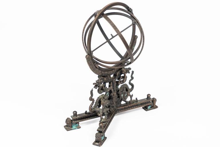 Vintage Bronze Rotating Sphere 2
