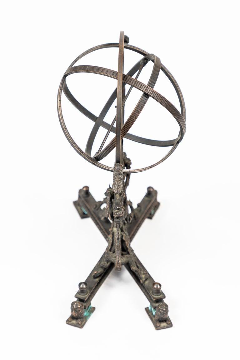 Vintage Bronze Rotating Sphere 3