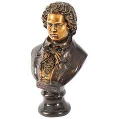 Vintage Bronze Sculpture of Ludwig von Beethoven, 20th Century