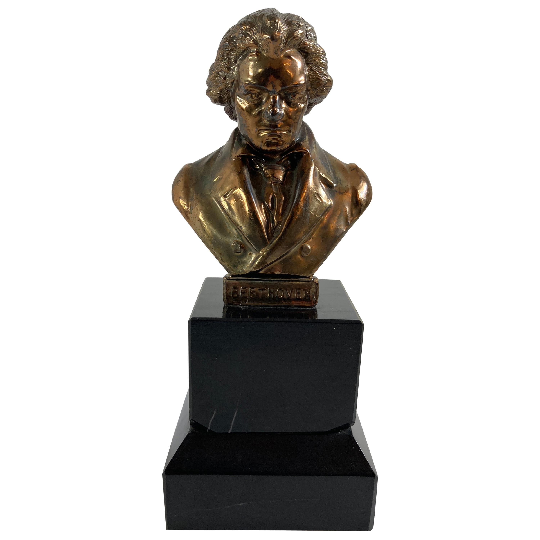 Vintage Bronze Sculpture of Ludwig von Beethoven