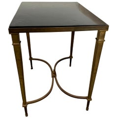 Vintage Bronze Table with Slate Top