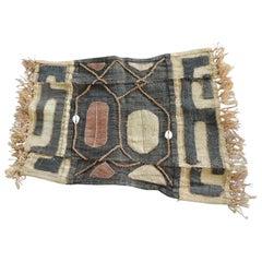 Vintage Brown and Black Earth Tones African Applique Kuba Textile Fragment