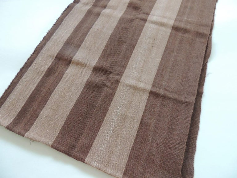 Modern Vintage Brown and Camel Woven Textile For Sale