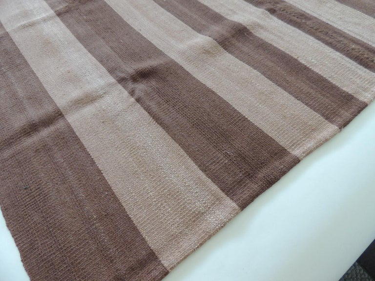 Argentine Vintage Brown and Camel Woven Textile For Sale