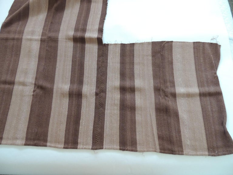 Hand-Crafted Vintage Brown and Camel Woven Textile For Sale