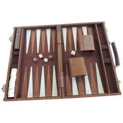 Vintage Brown and Tan Backgammon Game