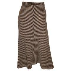 Vintage Brown and White Stripe Skirt