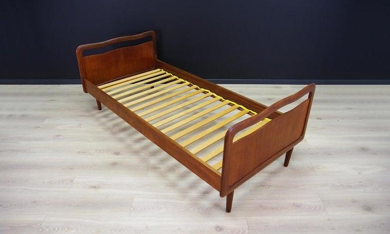 Vintage Brown Beds Danish Design Teak Classic, 1960s 3