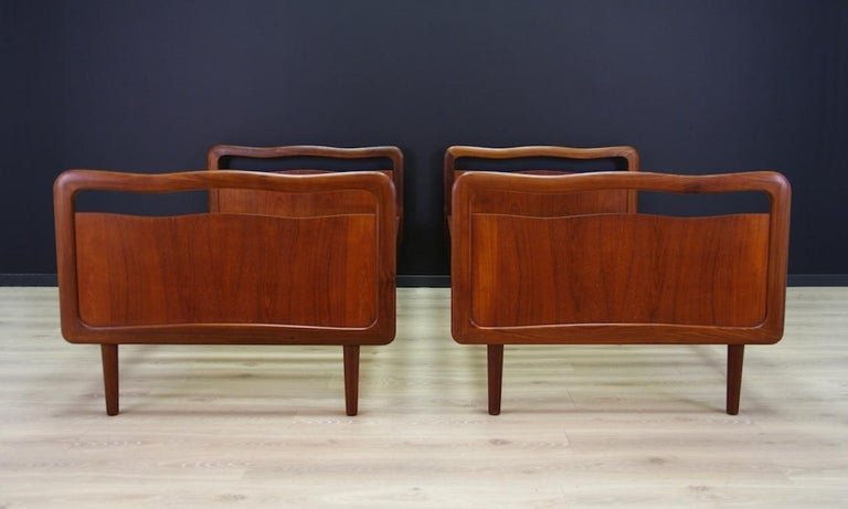 Mid-Century Modern Vintage Brown Beds Danish Design Teak Classic, 1960s