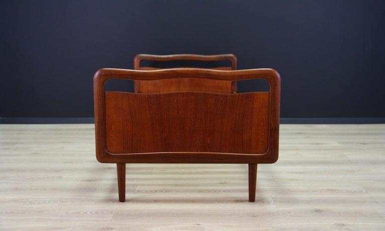 Vintage Brown Beds Danish Design Teak Classic, 1960s In Good Condition In Szczecin, Zachodniopomorskie