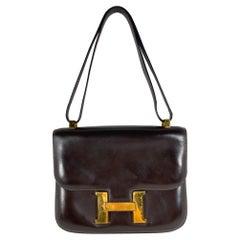 Vintage Brown Box Calf Leather Hermès Constance 23cm