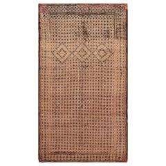 Vintage Brown Geometric Moroccan Rug