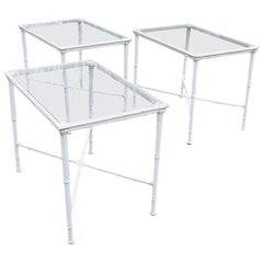 Vintage Brown Jordan Calcutta Aluminum Side Tables