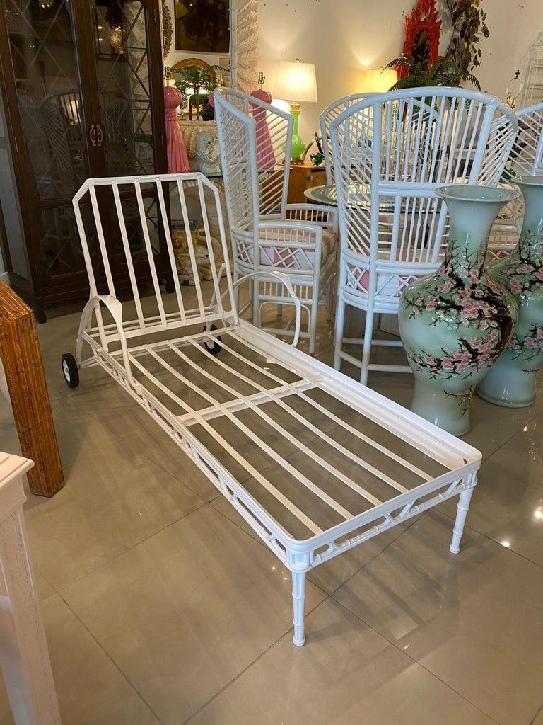 Vintage Brown Jordan Calcutta Lounge Chair Chaise Newly Powder-Coated Patio 2