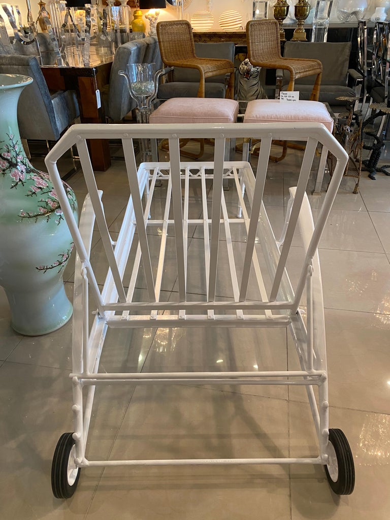 Vintage Brown Jordan Calcutta Lounge Chair Chaise Newly Powder-Coated Patio 5