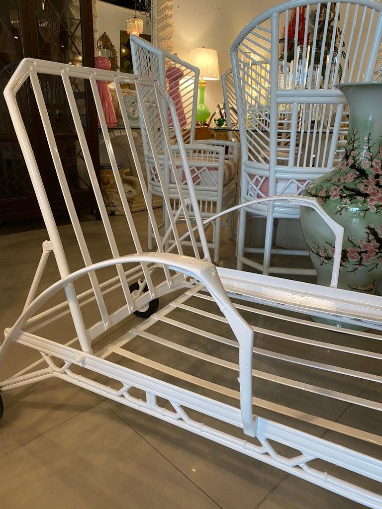 Vintage Brown Jordan Calcutta Lounge Chair Chaise Newly Powder-Coated Patio 6