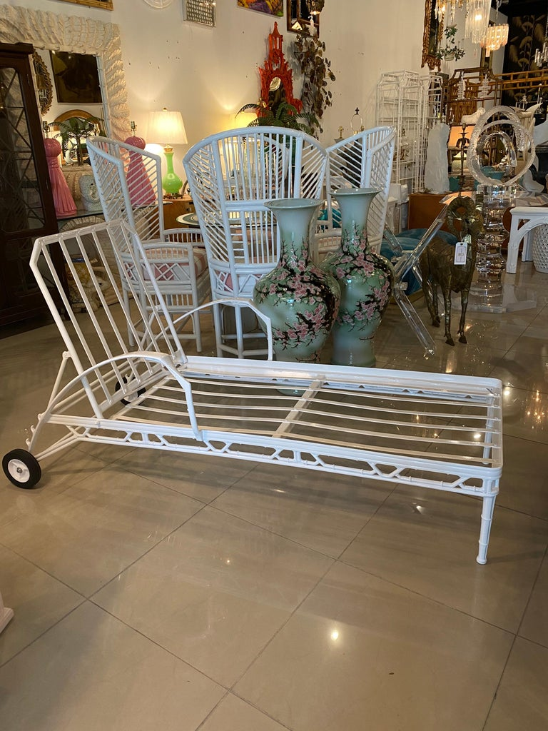 Vintage Brown Jordan Calcutta Lounge Chair Chaise Newly Powder-Coated Patio 7
