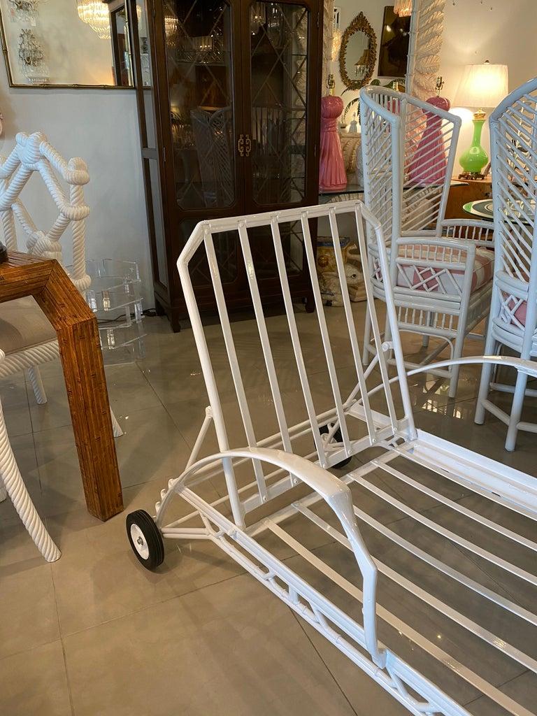 American Vintage Brown Jordan Calcutta Lounge Chair Chaise Newly Powder-Coated Patio