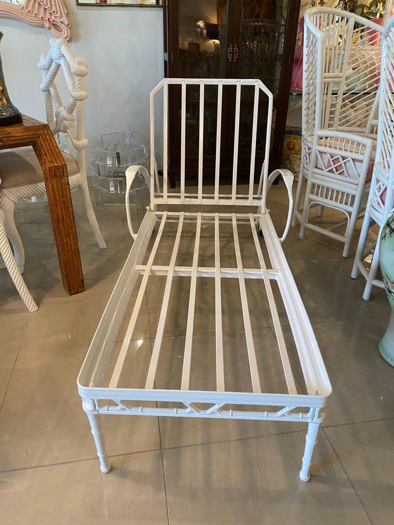 Aluminum Vintage Brown Jordan Calcutta Lounge Chair Chaise Newly Powder-Coated Patio