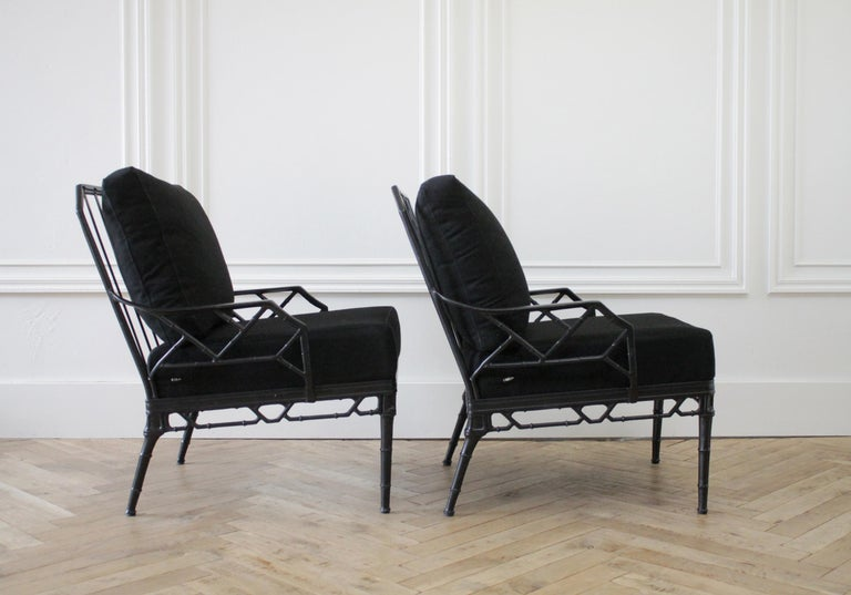 Vintage Brown Jordan Calcutta Pair of Lounge Chairs In Good Condition For Sale In Brea, CA