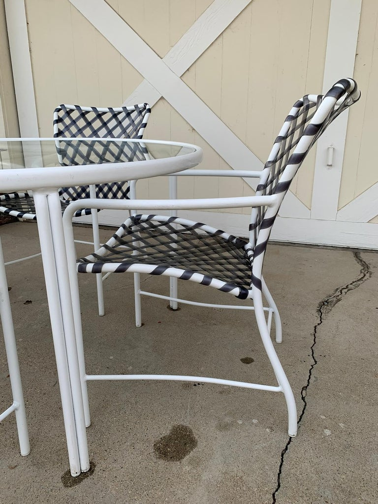 Vintage Brown Jordan Patio Set from the Tamiami Collection 1 Table and 4 Chairs For Sale 2