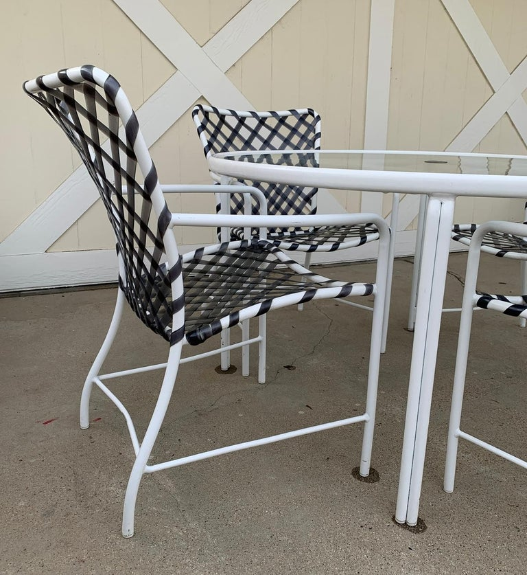 Vintage Brown Jordan Patio Set from the Tamiami Collection 1 Table and 4 Chairs For Sale 3