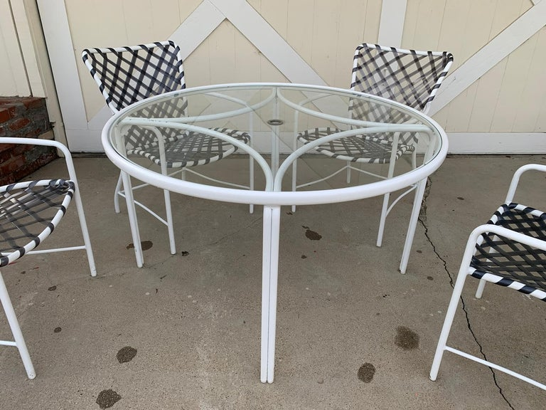 Vintage Brown Jordan Patio Set from the Tamiami Collection 1 Table and 4 Chairs For Sale 4