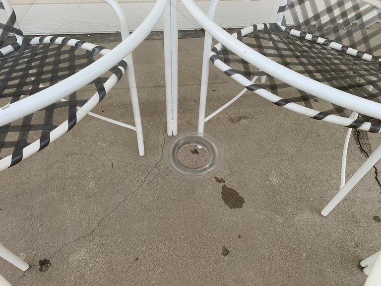 Vintage Brown Jordan Patio Set from the Tamiami Collection 1 Table and 4 Chairs For Sale 10