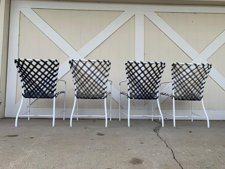Vintage Brown Jordan Patio Set from the Tamiami Collection 1 Table and 4 Chairs In Good Condition For Sale In Los Angeles, CA