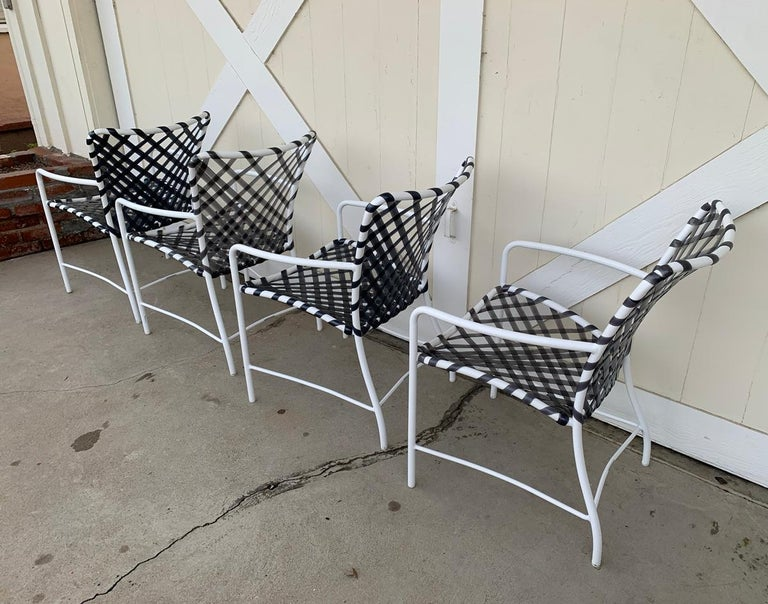 Late 20th Century Vintage Brown Jordan Patio Set from the Tamiami Collection 1 Table and 4 Chairs For Sale