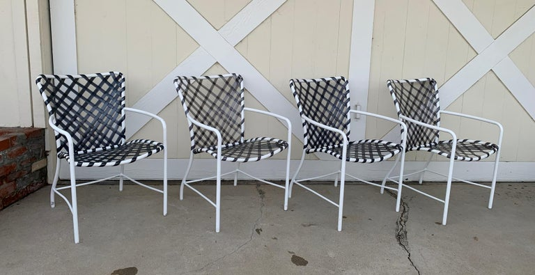 Aluminum Vintage Brown Jordan Patio Set from the Tamiami Collection 1 Table and 4 Chairs For Sale
