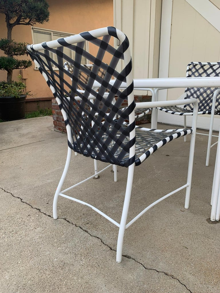 Vintage Brown Jordan Patio Set from the Tamiami Collection 1 Table and 4 Chairs For Sale 1
