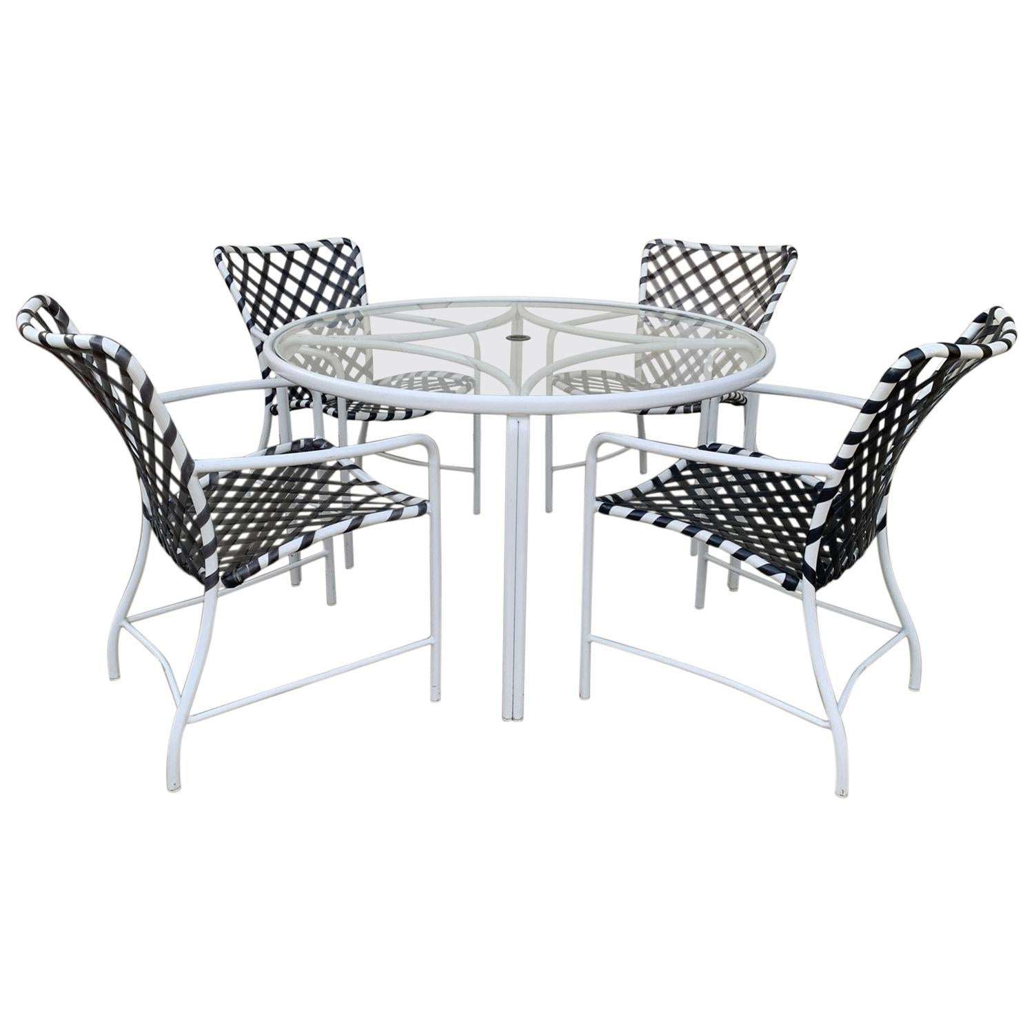 Vintage Brown Jordan Patio Set from the Tamiami Collection 1 Table and 4 Chairs