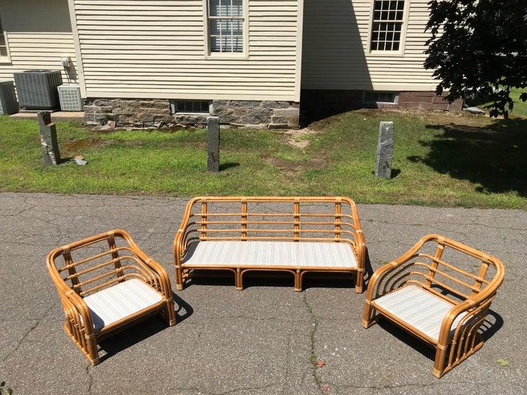 Vintage Brown Jordan Rattan Porch Furniture At 1stdibs