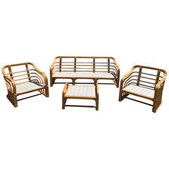 Vintage Brown Jordan Rattan Porch Furniture