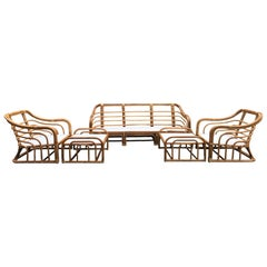 Vintage Brown Jordan Rattan Porch Furniture