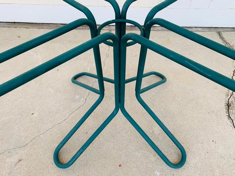Vintage Brown Jordan Round Dining Table For Sale 1