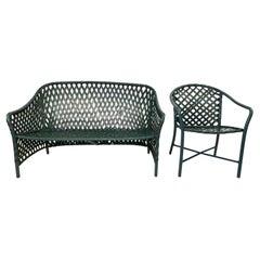 Vintage Brown Jordan Settee and Side Chair